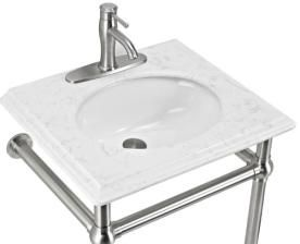 Arlington 24-in Single Sink Brushed Nickel Bathroom Vanity With Engineered Stone Top