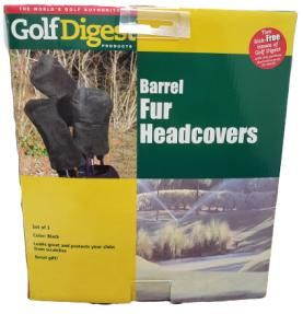 Barrel Fur Head Covers by Golf Digest ** 3 Pc's **