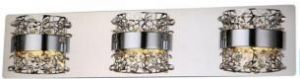 Aquila Chrome Crystal Accent Integrated Led Bathroom Vanity Light 3