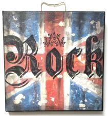 """Home - rock star boxes, ROCK FLAG, 11-7/8"""" x 11-7/8"""""""