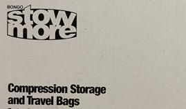 Bongo stow more - compression storage and travel bags, 6 cube pack