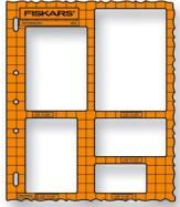 Fiskars Shape Template Tool, Rectangles with Majestic Border