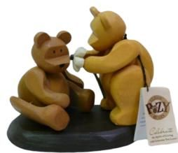 Celebration Wooden Gift Craft Pozy Teddy Bear For You New Figurine
