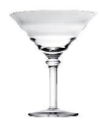 "Lead Free Crystal ""TIARA"" Martini Glass 15x18 cm. H"