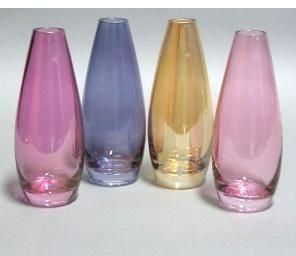 "Lead Free Crystal ""TIARA"" Vase 19 cm. Packed 4 asst.-"