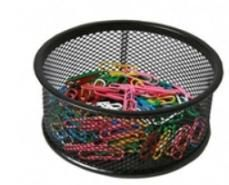 250 vinyl paper clips in mesh holder