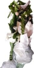 Home Interiors Gift Inc Artificial White Flower and Leaves for decoration